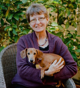 Bonnie K. Bishop with Dog